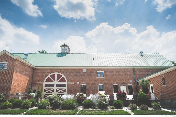 rear patio of Centennial Barn