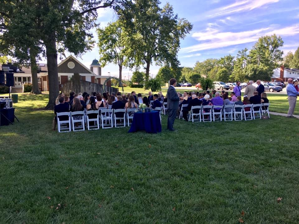 outdoor wedding grove event center